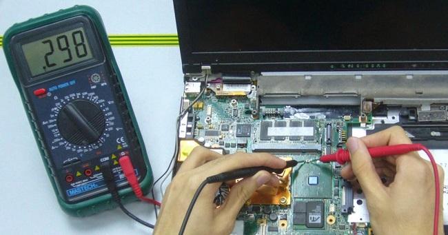Main của laptop bị mất nguồn.