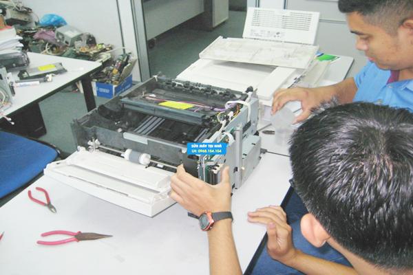 Cách sửa máy in liên tục.